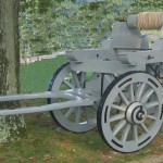 Sling Wagon for picking up canon barrels and other heavy objects. .
