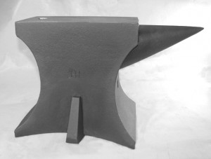 "Above anvil has 5th. Foot. & 5 "" Horn. Made in the U.S.A. Cast entirely of H13 tool steel (hot working impact steel) Heat treated to Rockwell C 50 - 55 Weight: @ 100 pounds Total Height: 9 1/2 inches Face: 4 1/2 inches wide by 9 1/2 inches long 2 Horn lengths available: 4 1/2 or 5 inches long Hardy Hole: 3/4 inches Face ground flat after heat treat Available with or without a horn, with or without 5th. Foot. Cost: $875.00 with 5th. Foot, $825.00 without 5th. Foot plus shipping To place an order, send a deposit of $425.00 to Hoffman's Forge, LLC 2301 Duss Ave. Suite 26 Ambridge, Pa 15003 Balance plus shipping due prior to shipping, approximately 6 weeks from date of order."