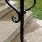 Custom hand rail detail.
