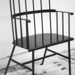 Iron Windsor chair.